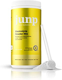 JUNP Hydration Electrolyte Powder, Electrolytes Drink Mix Supplement, Zero Calories Sugar and Carbs, Kosher, Lemonade Flav...