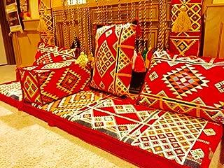 Arabic Floor Seating Foam Set 2m Sado Arabesque - Foam Filled