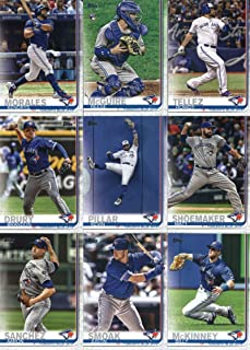 2019 Topps Complete (Series 1 & 2) Baseball Toronto Blue Jays Team Set of 21 Cards: Marcus Stroman(#37), Richard Urena(#39), Danny Jansen(#67), Lourdes Gurriel Jr.(#82), Sean Reid-Foley(#134), Teoscar Hernandez(#152), Ken Giles(#184), Rogers Centre(#245), Ryan Borucki(#246), Devon Travis(#298), Randal Grichuk(#309), Russell Martin(#348), Kendrys Morales(#436), Reese McGuire(#442), Matt Shoemaker(#533), Rowdy Tellez(#556), Kevin Pillar(#623), plus more