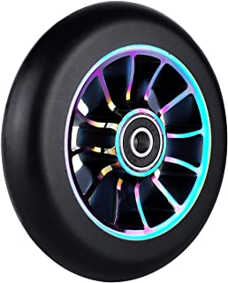 aibiku 100mm Pro Stunt Scooter Wheel with Abec-11 Bearings Fit for Fuzion/Envy/MGP/Lucky TFOX/Vokul Pro Scooters - 2PCS