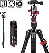 ZOMEi M5 Trípode para cámara de viaje, trípode de aluminio ligero compacto portátil con cabezal de bola de 360 grados y bolsa de transporte para Canon, Nikon, Sony, Samsung, Olympus DSLR