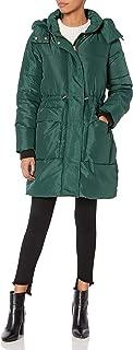 Jessica Simpson Womens Long Puffer Jacket Down Alternative Coat - Green - Medium