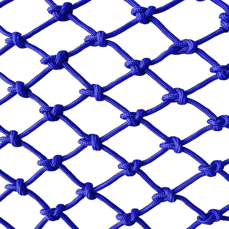 Kinderschutznetz Balkon sicherheitsnetz treppe bruchsicheres Netz kindergartendekoration netzzaun Netz handgewebtes Netz 1m2m3m4m (blau)