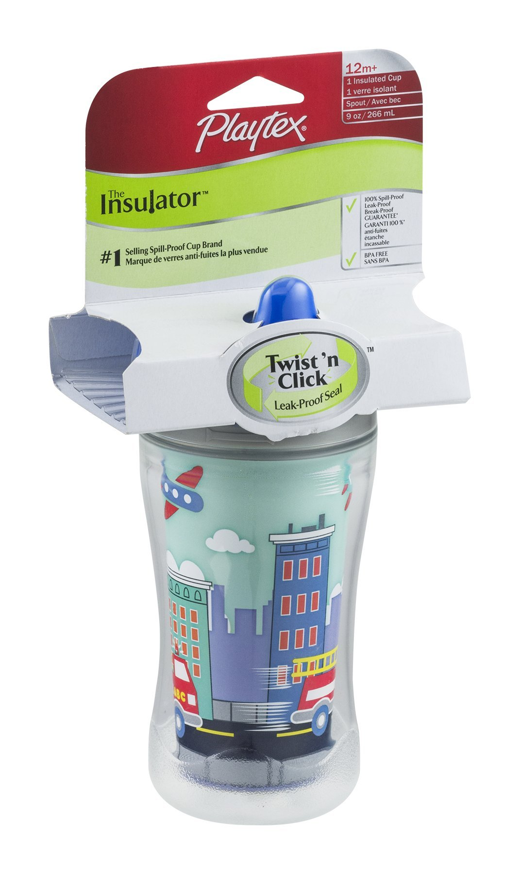 Playtex The Insulator Insulated Cup 12m+ 9 OZ (Pack of 9)  - (Colors/styles May Vary)