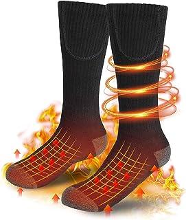 ZZNN, ZZNN Calcetines Térmicos Eléctricos Recargables, hasta 10 Horas Calcetines Térmicos con 3 Configuraciones De Calor, Calcetines Térmicos De Algodón De Invierno Cálido Lavables