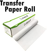 Lutema Clear Transfer Paper Tape Roll for Vinyl Wall Decals, Doors, Windows, Signs, and Arts & Crafts - Perfect for Cricut and Silhouette Cameo Cutters - Transfer Film Paper (23.5