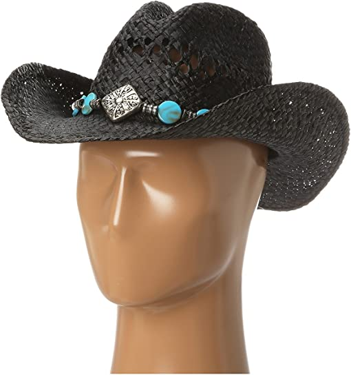 Diamond/Turquoise/Black Raffia