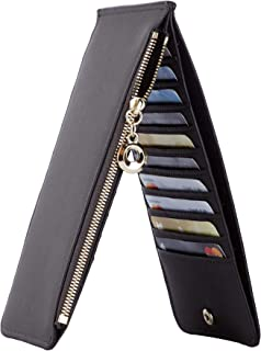 Womens RFID Blocking Genuine Leather Multi Card Organizer...