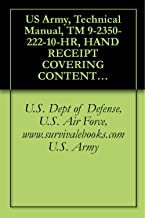 US Army, Technical Manual, TM 9-2350-222-10-HR, HAND RECEIPT COVERING CONTENTS OF COMPONENTS OF END ITEM, (COEI), BASIC IS...