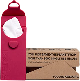 LastTissue Reusable Organic Tissue Pack by LastObject - Eco Friendly & Soft-On-The-Nose Handkerchiefs - Facial Tissues - D...