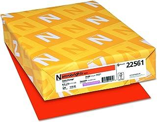 """Astrobrights Color Paper, 8.5"""" x 11"""", 24 lb/89 GSM, Orbit Orange, 500 Sheets (22561)"""