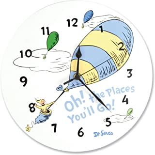 Trend Lab Dr.Seuss Wall Clock, Oh! The Places You'll Go Blue