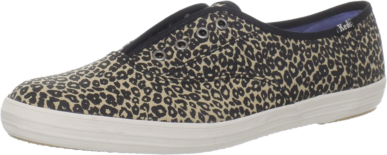 KE Keds Women's Champion Animal Print Sneaker (Brown Leopard, 6.5)