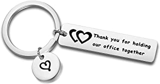 Zuo Bao Boss Gift Maneger Jewelry Coworker Keychain Thank You for Holding Our Office Together Keyring for Boss Maneger
