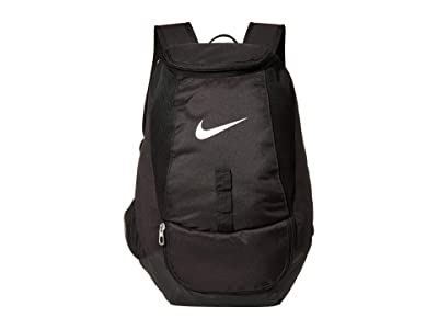 Nike Club Team Swoosh Backpack (Black/Black/White) Backpack Bags