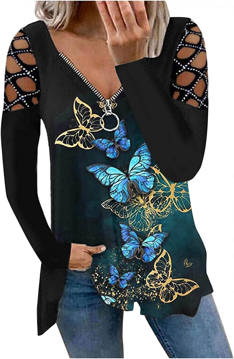 Womens Zip up V Neck Tops Black Witch Skeleton NEW before selling ☆ Price reduction Halloween Cat