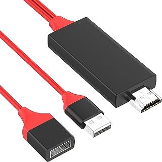 【2021最新版】HDMI変換ケーブル iPhone/Android 兼用 スマホからテレビに接続ケーブル 1080P 高解像度 設定不要 TypeC hdmi 変換 アダプタ TV/プロジェクター iPhone/iPad/Android適用 ...