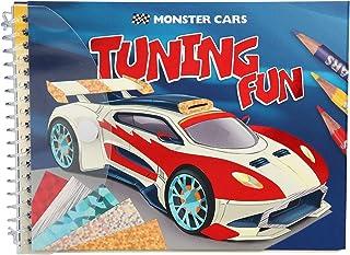 Depesche 10300 Livre de coloriage Monster Cars Tuning Fun Multicolore