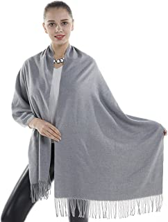 Niaiwei Cashmere Scarf Blanket Large Soft Pashmina Shawl Wrap For Men and Women