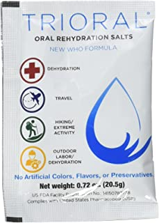 Oral Rehydration Salts ORS (100, One Liter Packets/Box) World Health Organization (WHO) New Formula for Food Poisoning, Ha...