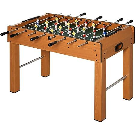 homcom Calcio Balilla Professionale per Adulti e Bambini in MDF, con 2 Palline, Segnapunti e 22 Giocatori, 122x61x80.7cm