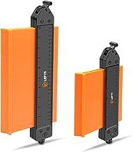 Konturenlehre mit Schloss,LEFYR 2 Stücke Erweitern Konturmessgerät 250mm und 130mm Kunststoff Kontur Duplikator Markierwerkzeuge mit Verriegelungsmechanismus für unregelmäßige Konturen Präzise Messung