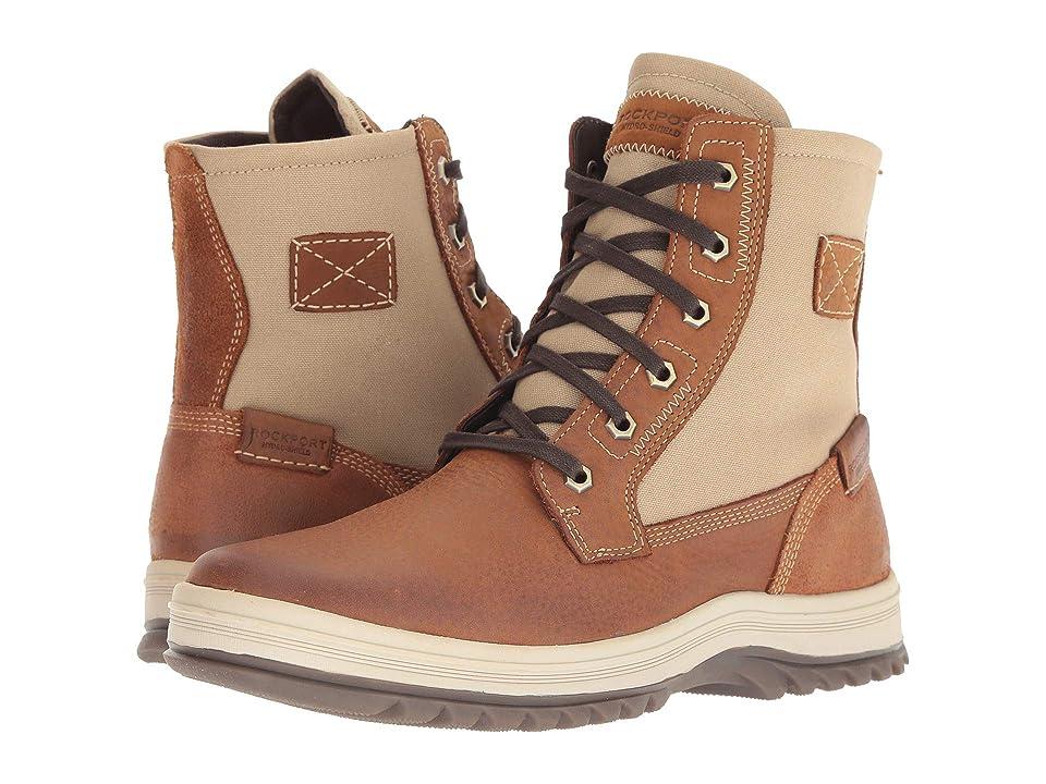 Rockport World Explorer Waterproof Tall Boot (Tan) Men's Shoes