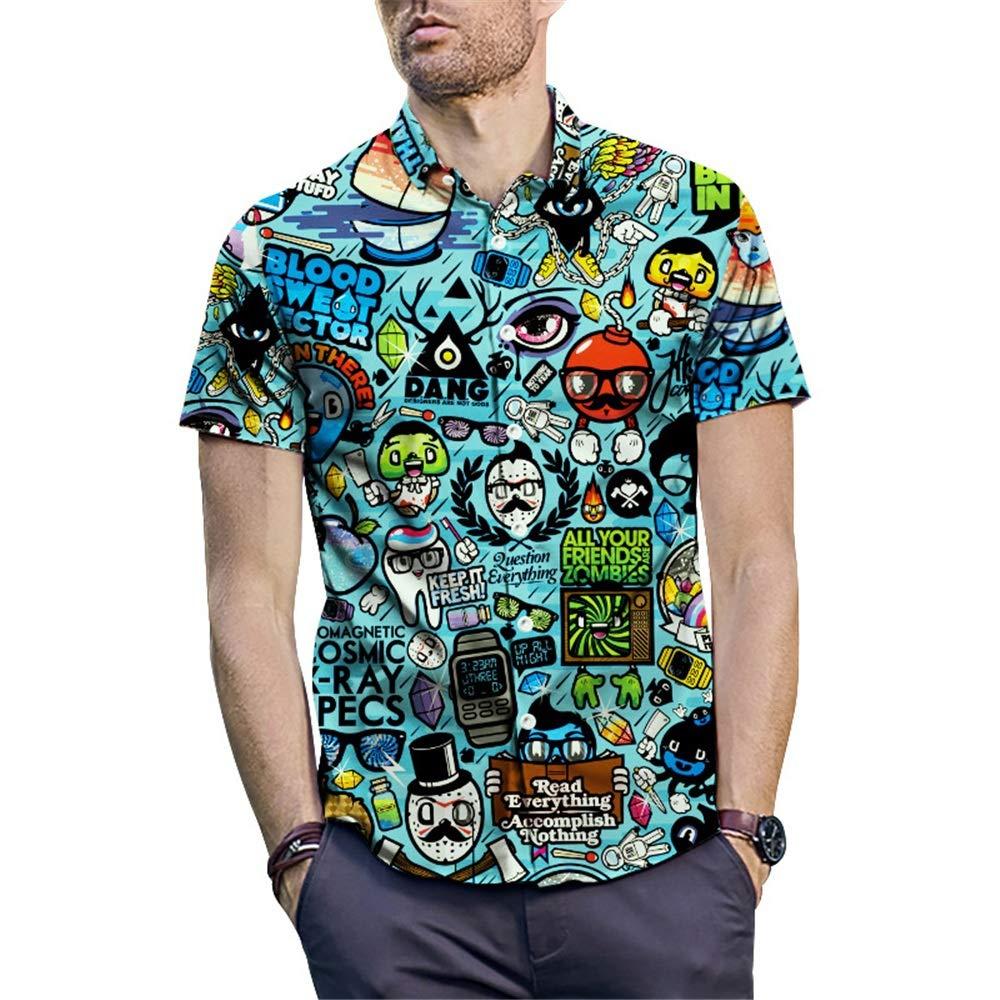 Camisa Hawaiana de Manga Corta Camisas de flores para hombres Estilo hawaiano Manga corta Verano Casual
