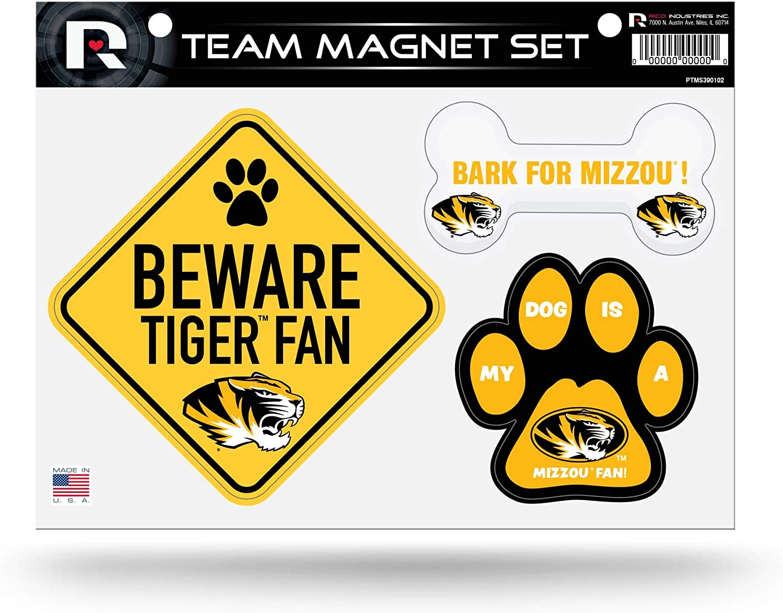Rico NCAA Missouri University shopping Pet Magnet Themed Team Sheet 5 popular