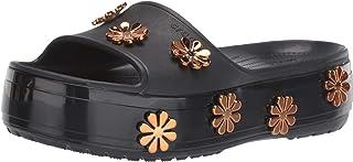 Women's Crocband Platform Metallic Blooms Slide Sandal