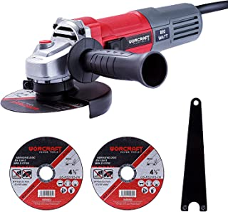 Sponsored Ad – WORCRAFT 850W Angle Grinder Ø115mm 12000 RPM, Slide Lock Switch, Auxiliary Handle, Come with 2 Cutting Disc...