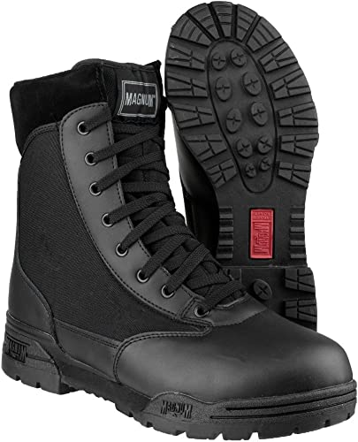 Magnum Mens Magnum Classic CEN Lace Up Leather Patrol botas negro