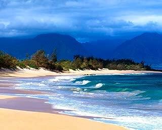 Hawaiian Beach Seascape Decor, Maui Hawaii Tropical Ocean Wall Art Picture