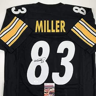 Autographed/Signed Heath Miller Pittsburgh Black Football Jersey JSA COA