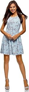 oodji Ultra Women's Bow Back Dress in Flowing Fabric