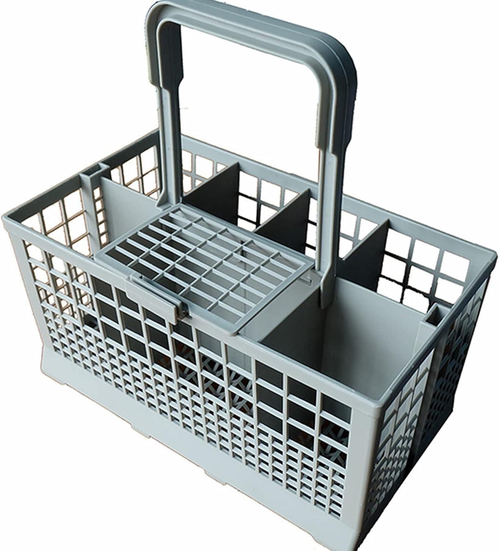 Cutlery Basket - Cesto para cubiertos (apto para muchos lavavajillas y lavavajillas, asa con desagüe integrado para lavavajillas, 240 x 140 x 125 mm)