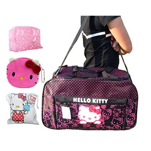 74630e7de8 Hello Kitty Travel Bag Ultra-large Capacity Carry on Holdall Shoulderbag   Handbag (Purple