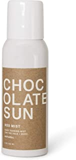 Chocolate Sun - Organic H20 Absolute Dark Tanning Mist Face & Body (For Dark Tones, 4 oz) | Clean, Non-Toxic Sunless Tanning