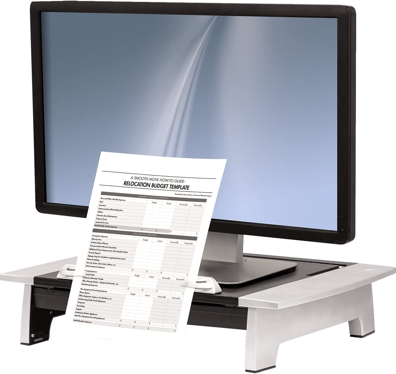 Fellowes Office Suites Standard Monitor Riser Plus (8036601), Black