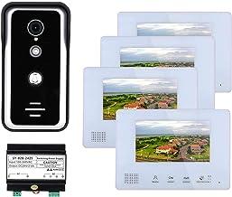HBHYQ 4 monitores Sistemas de intercomunicadores de teléfono de Video de Video de 2 Pulgadas de 2 Pulgadas para el hogar 1...