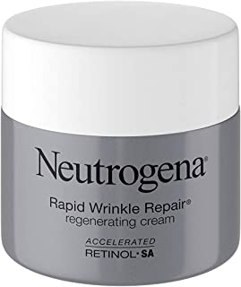 Neutrogena Rapid Wrinkle Repair Retinol Regenerating Face Cream & Hyaluronic Acid Anti Wrinkle Face Moisturizer, Neck Cream, with Hyaluronic Acid & Retinol, 1.7 Ounce (Pack of 1)