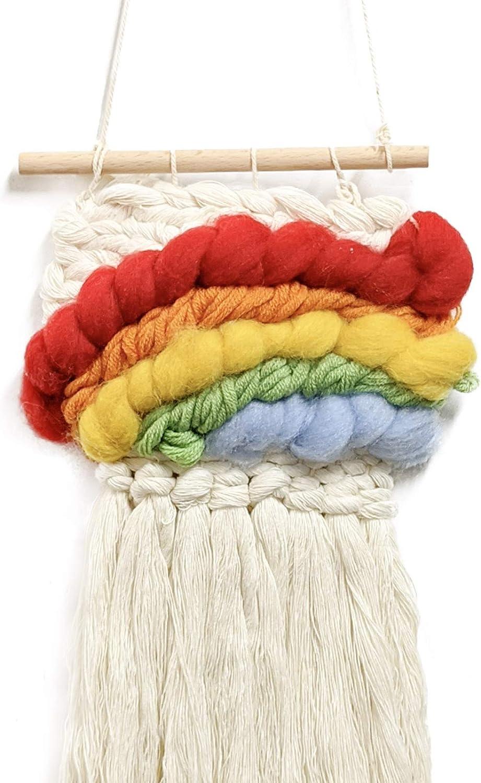 Wool Queen Weaving El Paso Mall DIY Kit 5.3 x Looms 7.8 Long-awaited Yarn R Sticks Inch