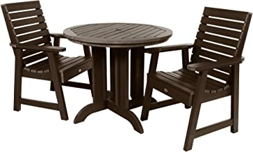 product image for highwood AD-DNW36-ACE Weatherly 3-Piece Round Dining Set, Weathered Acorn