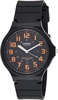 Casio Men's Black Dial Silicone Band Watch - MW-240-4BVDF