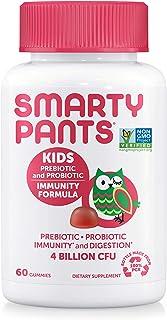 SmartyPants Kids Probiotic Immunity Formula Daily Gummy Vitamins; Immunity Boosting Probiotics & Prebiotics; Digestive Sup...