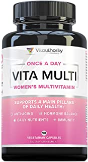 VITA Multi Multivitamin for Women: Women's Daily Multi-Vitamin with Iron and Multi-Mineral Supplement | Supports Youthful ...