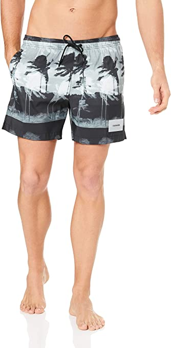 Calvin Klein Men's Medium Length Drawstring Short, Hurricane