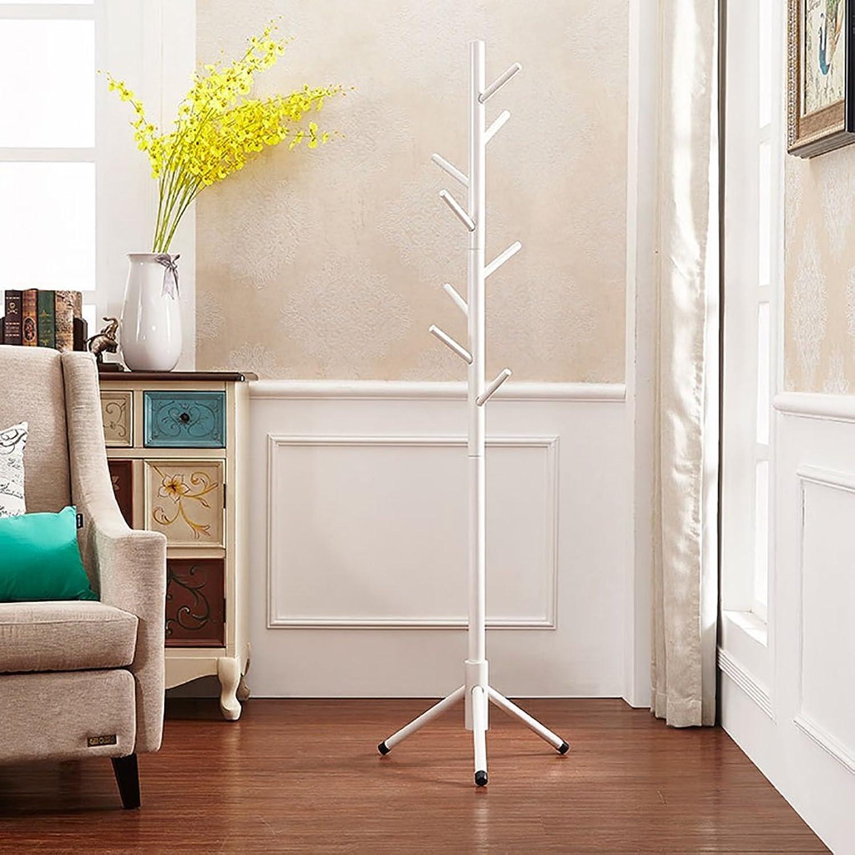 All Solid Wood Coat Rack Floor Hanger Bedroom Hanger Nordic Minimalist Modern Creative Single Rod Hanger (color   A3)