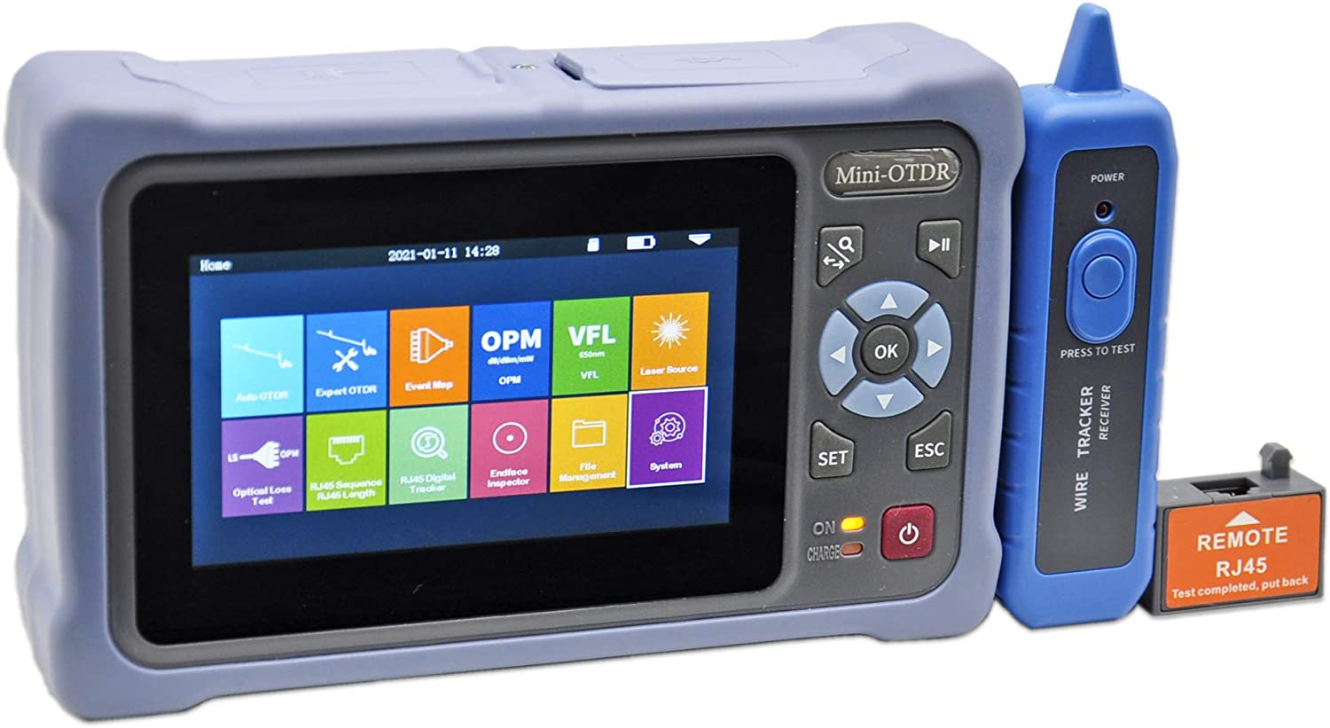 Fiber Optic Ranking TOP12 OTDR Tester SM 1310 1550nm 4.3-in with 26 24dB 100km Max 46% OFF
