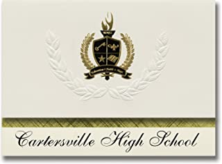 Signature Announcements Cartersville High School (Cartersville, GA) Graduation Announcements, Presidential style, Basic package of 25 with Gold & Black Metallic Foil seal